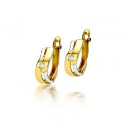 Kolczyki złote z brylantami...